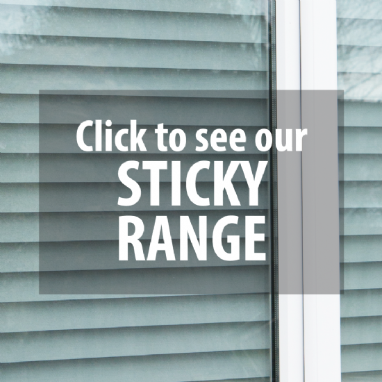 STICKY BACKED WINDOW FILMS